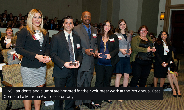 CWSL_Students_and_Alumni_are_honored_for_their_volunteer_work_at_the_7th_Annual_Casa_Cornelia_La_Mancha_Awards_ceremony